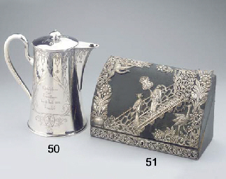 A large Danish silver teapot