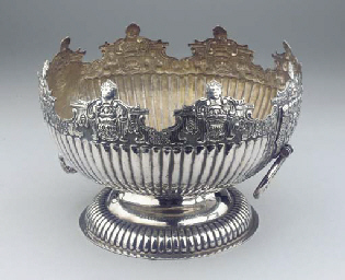 A large silver monteith