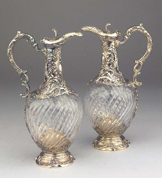 (2) A pair of French parcel-gi