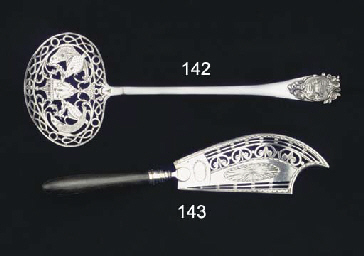 A Dutch silver fish-slice