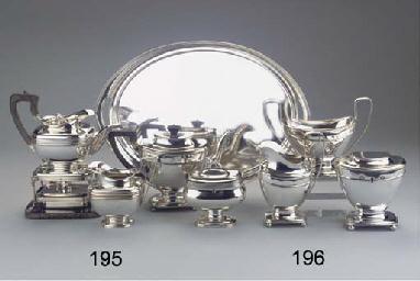 (5) A Dutch silver three-piece
