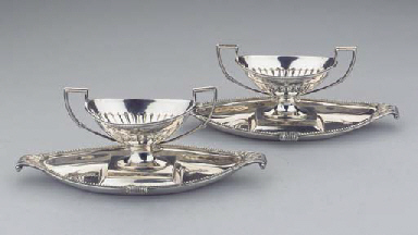 (4)  A pair of Scottish silver