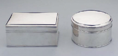 (2)  Two Dutch silver biscuit-