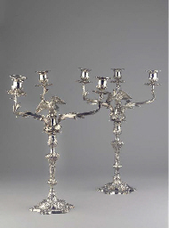 (2)  A pair of English silver