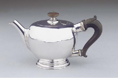 A small Dutch silver teapot