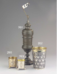 A Norwegian silver beaker with