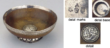 A RARE AND EARLY SILVER-MOUNTE