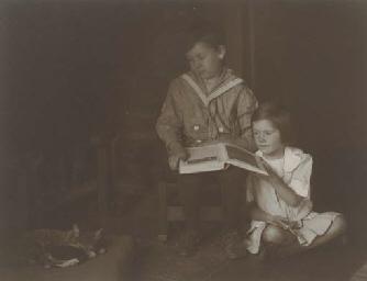 Untitled (Children reading), c