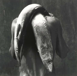 Man with Two Fish, 1992; and M
