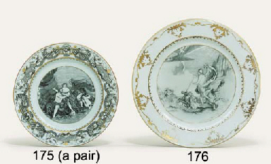 A PAIR OF GRISAILLE AND GILT M