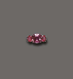 A PURPLE SAPPHIRE, SPINEL AND
