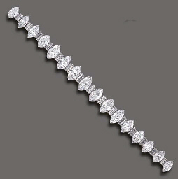 AN IMPORTANT DIAMOND LINE BRAC