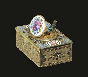 A SWISS SILVER-GILT AND ENAMEL