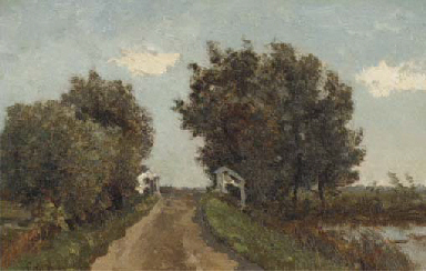 Landschap met brug: landscape