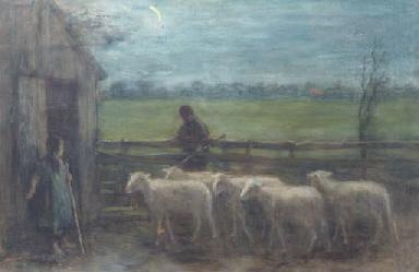Het binnendrijven der schapen: