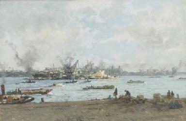 De Maas bij de Willemskade: Ma