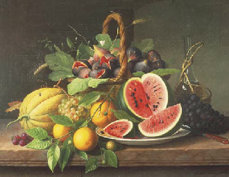 Still Life with Fruits on a St