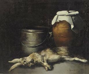 Nature morte au lapin