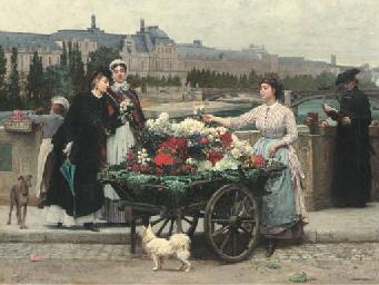 The Flower Seller on the Pont