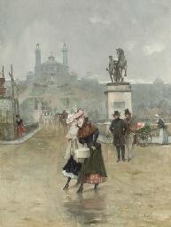 Ladies crossing the Street