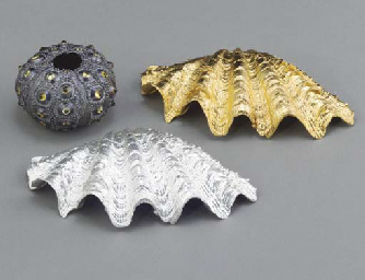 A GROUP OF GOLD PLATED, STERLI