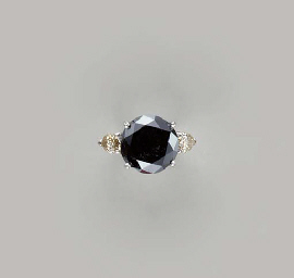 A COLORED DIAMOND AND 14K WHIT