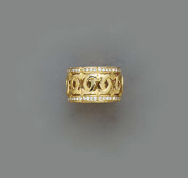 A DIAMOND AND 18K GOLD RING, B