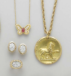 **A GROUP OF GOLD, GEM-SET AND