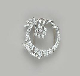 A DIAMOND, PLATINUM AND WHITE