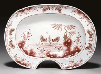 A Milan maiolica barber's bowl