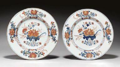 (2) Two Faenza maiolica plates