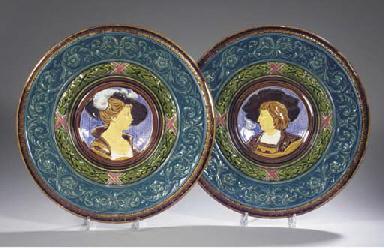 (2) A pair of Dallwitz Bohemia