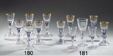 (6)  A set of six Lauenstein g
