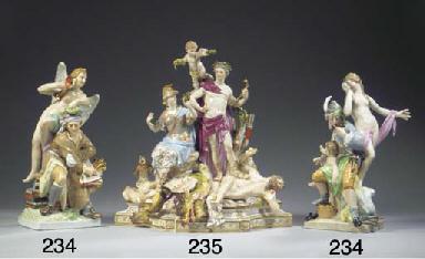 A Meissen porcelain mythologic