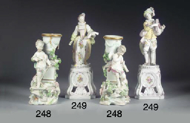 (2)  A pair of Derby porcelain