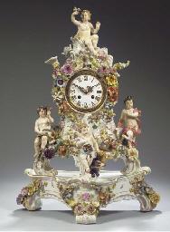 (2)  A Meissen porcelain flowe