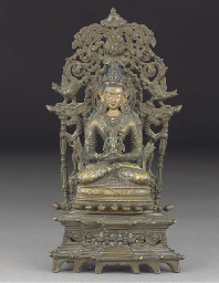 A Nepalese gilt-lacquered bron