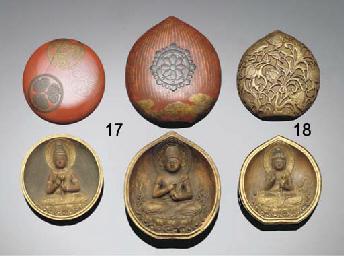 A Japanese miniature gilt-lacq