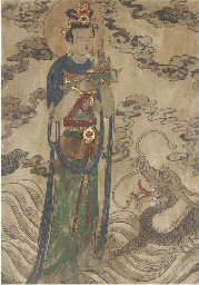 A Chinese fresco painting, Ear