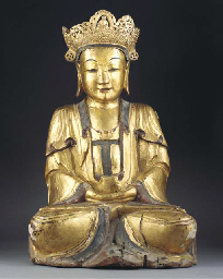 A Chinese gilt lacquered figur