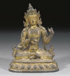A Sino-Tibetan gilt lacquered