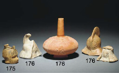 THREE ROMAN TERRACOTTA GLADIAT