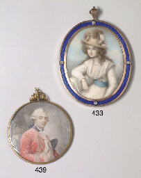 A GEORGE III MINIATURE ON IVOR