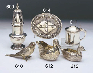 A VICTORIAN STERLING SILVER DU