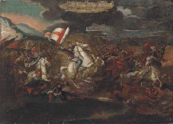 St. James on horseback, leadin