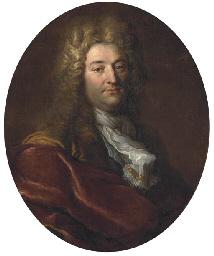 Portrait of a gentleman in a w