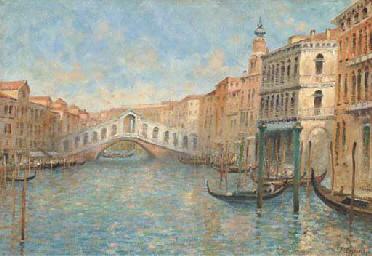 Gondolas before the Rialto