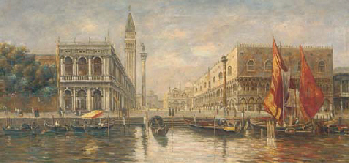 A view of St. Mark's Square; a