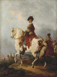 Cavalrymen on a bluff