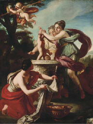 Thetis dipping Achilles in the